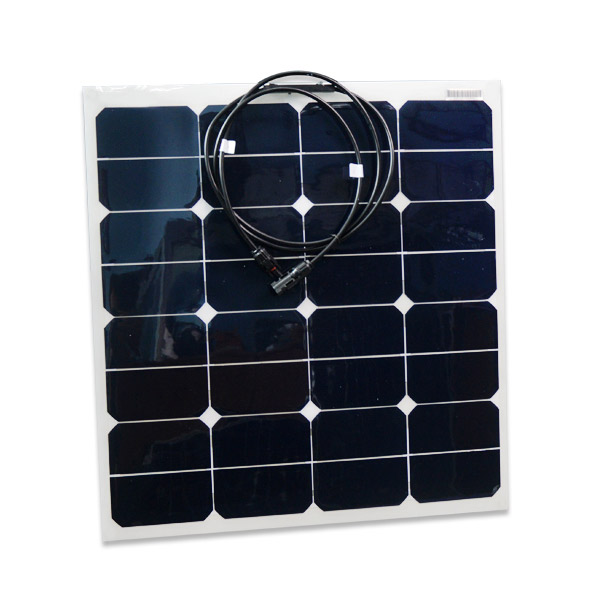 Semi Flexible Solar Panel 50 Watts For Mobile Homes And